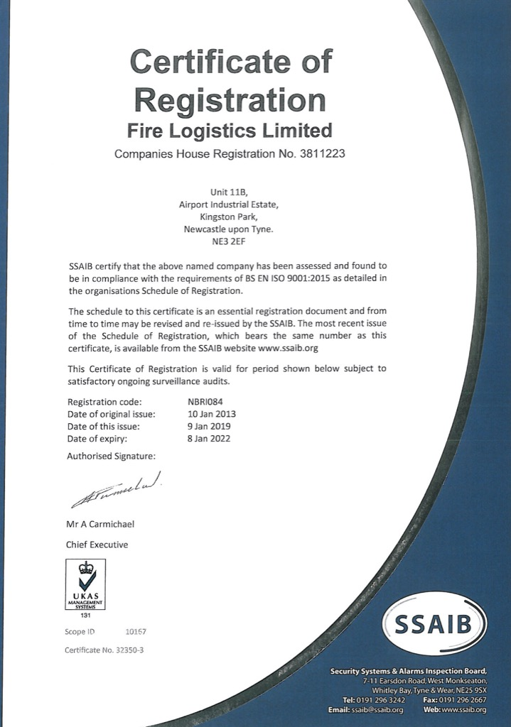 ISO 9001:2015 – Fire Extinguishers