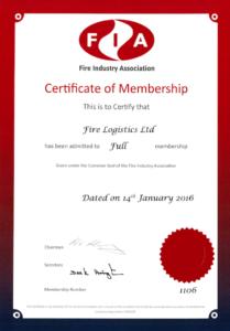 FIA Membership Certificate