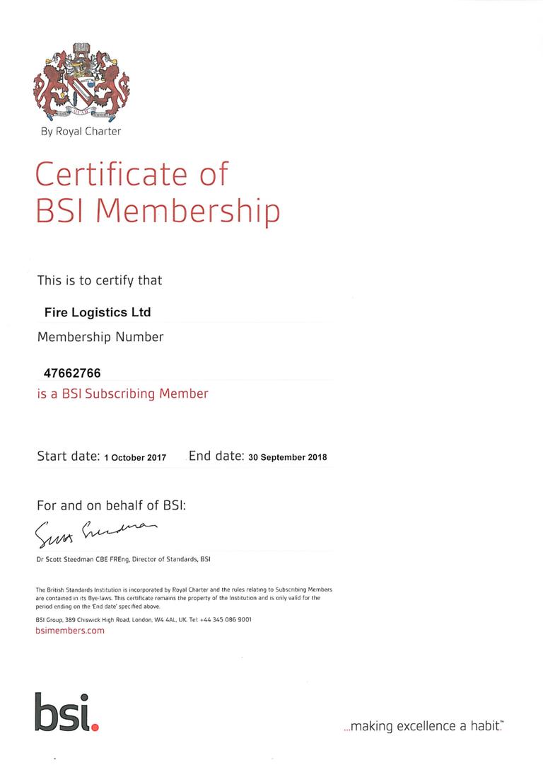 BSI Membership Certificate