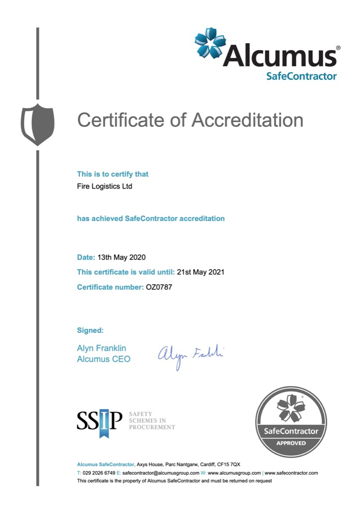Safe Contractor Certificate of Accreditation